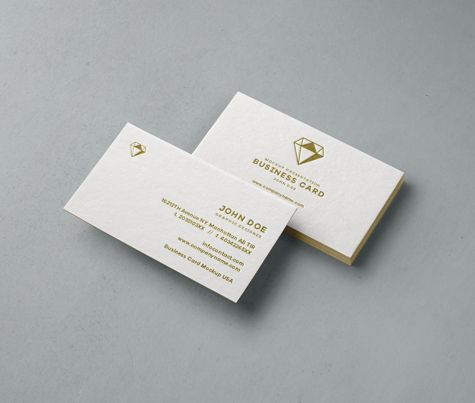 Embossed/Debossed Business Cards | LPC Prints